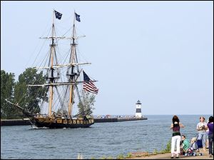 The reconstructed U.S. Brig Niagara will be docked at Put-In-Bay during the Battle of Lake Erie events.