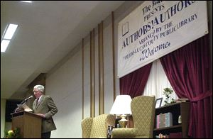 John Updike, two-time Pulitzer Prize winner, spoke at the Stranahan Theater in 2001 as part of the Authors! Authors! series presented by The Blade and the Toledo-Lucas County Public Library.