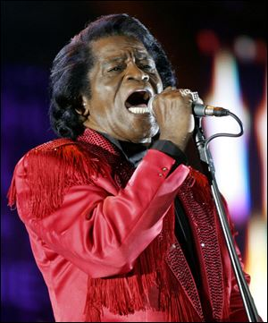 James Brown performing in 2005.