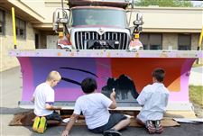Painted-snow-plows-from-3-elementary-schools-and-1middle-school-will-be-put-on-display-in-the-upcoming-Black