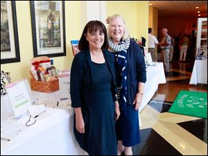 Judy Reitzel, left, and Carole Nooney, right, during the Bark for Life party.