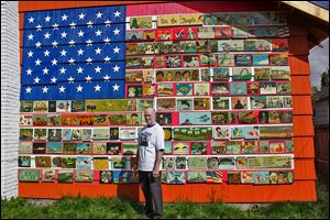 Richard Ormbrek's Seattle home, which is decorated with a 20-foot-wide American flag made up of 180 painted tiles, has become a local landmark.  He says that rather than hurt property values, his one-of-a-kind home gets offers from would-be buyers every week.