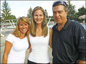 Pictured from left, Lisa Shoffer, and Margot and Jeff Prymas.