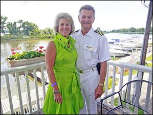 Commodore Ron Reeder and Lady Carla Smith enjoy the Commodore's Reception during the annual Homecoming weekend at  Maumee River Yacht Club on August 2, 2013.