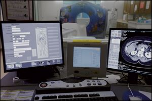 A change in software allows a CT scanner to emit less radiation.