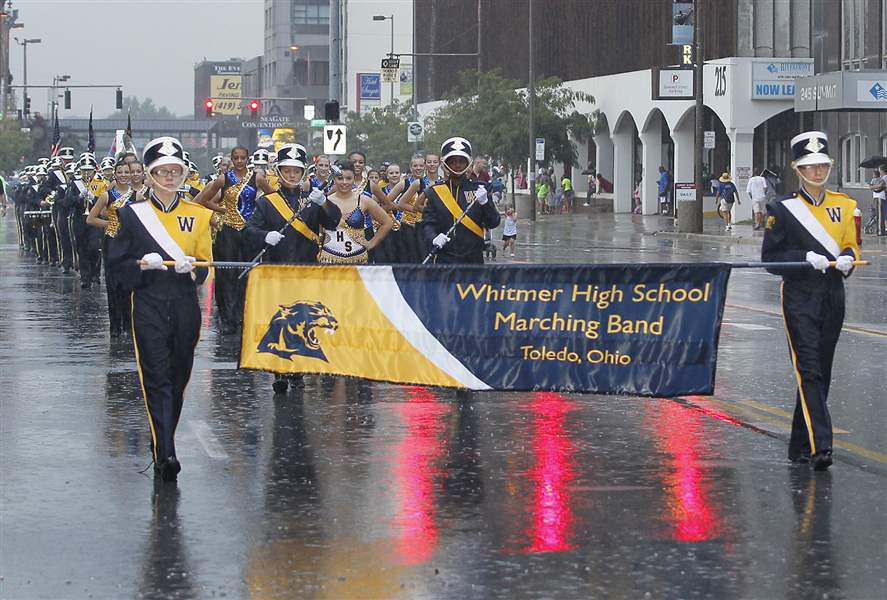 The-Whitmer-High-School-band-marches-thr