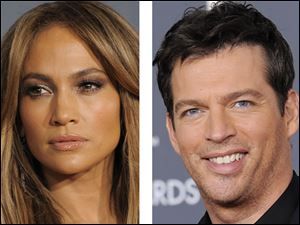Jennifer Lopez, left, and Harry Connick Jr., right.