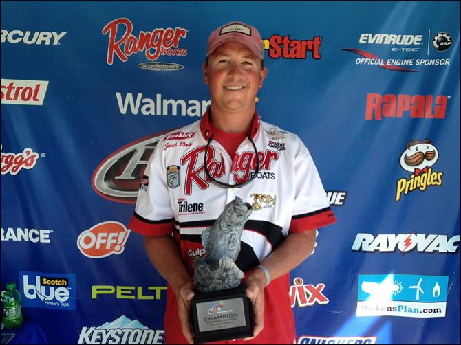 rhodeimage.jpg walmart bass fishing league Jared Rhode of Port Clinton won the re­cent Wal­mart Bass Fish­ing League Mich­i­gan Divi­sion event by going to familiar territory.