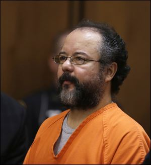 Ariel Castro sits in the courtroom during the sentencing phase Thursday, Aug. 1, 2013, in Cleveland.