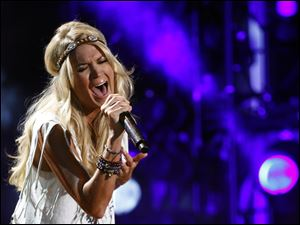 Carrie Underwood performs at the