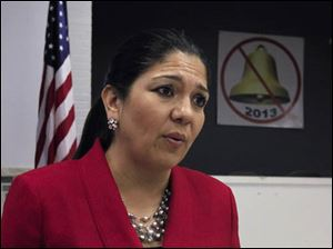 Toledo mayoral candidate Anita Lopez during an interview at Teamster's Hall.