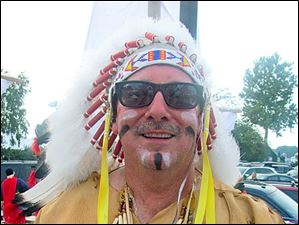 Catawba Island Club at the Dock's party Chief Tecumseh aka Jerry Massie of Jamestown, Ohio.