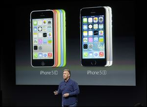 Phil Schiller, Apple's senior vice president of worldwide product marketing, says the 5S is the 'most forward-looking phone' the company  has ever created. It goes on sale Sept. 20.