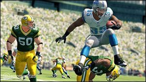 A screen shot from Madden NFL 25.