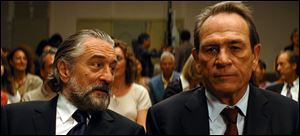 Robert De Niro and Tommy Lee Jones share a scene in 'The Family.'