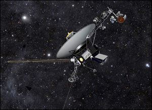 NASA said today that the Voyager 1 has become the first spacecraft to enter interstellar space, or the space between stars, more than three decades after launching from Earth.