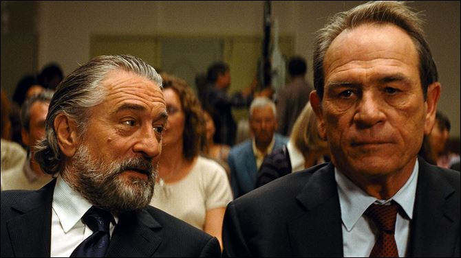 Film Review The Family Robert De Niro and Tommy Lee Jones share a scene in 'The Family.'