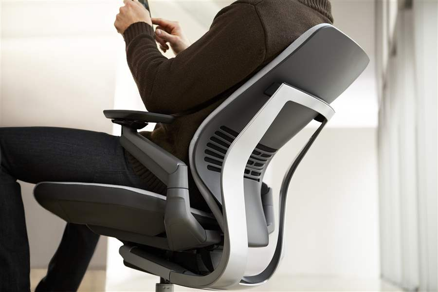 column chair steelcases chair ergonomic but costly common gesture the blade