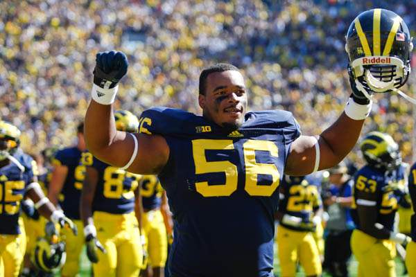 Michigan-sophomore-Ondre-Pipkins-celebrates-beating-Akron