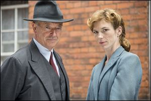 Michael Kitchen, left, and Honeysuckle Weeks are shown from the series 'Foyle's War,' premiering its new season on 'Masterpiece Mystery!' on PBS this month.