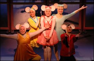 'Angelina Ballerina The Musical' comes to the Valentine Theatre Saturday for shows at 2 and 4 p.m.