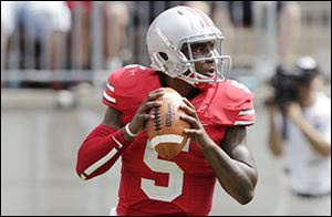 Ohio State quarterback Braxton Miller is expected to return this week from a sprained left knee.