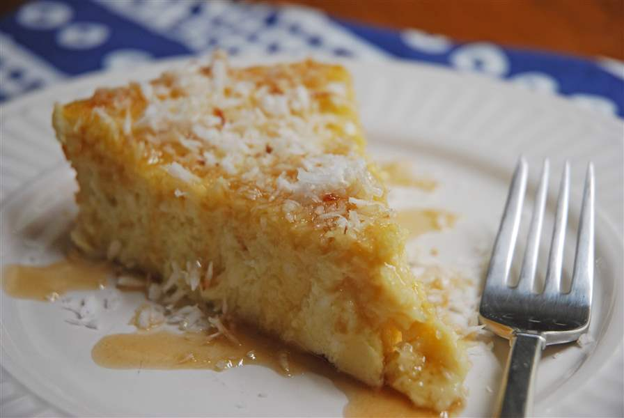 Crustless-Coconut-Pie-fork