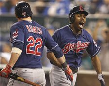 Cleveland-Indians-Michael-Bourn-right-is-cong