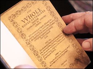 The Bay Psalm Book, on exhibit from 10 a.m. to 4 p.m. at the Cleveland Public Library today only, is not only America's first book; it's a piece of American history.