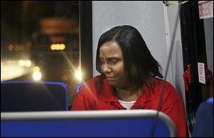 Mondia Brown depends on TARTA's No. 7 bus to take her from downtown Toledo to her job at a Meijer store along the route to Spencer Township.