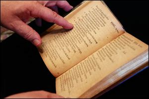 A copy of the Bay Psalm Book, printed in 1640, will be up for auction in New York on Nov. 26.