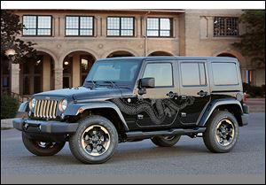 The Jeep Wrangler Dragon special edition, made in Toledo and on sale this fall, is expected to retail for $36,095. It created quite a buzz when it made its debut as a design concept in China last year.