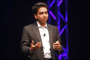 Salman Khan talks about Khan Academy, the school largely comprised of a series of instructional videos allowing anyone with the internet to access.