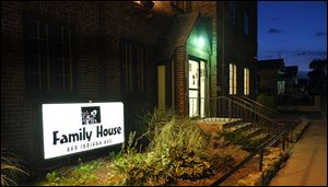 Family House on Indiana Avenue is one of four federally funded shelters in the city overseen by the Toledo Lucas County Homeless-ness Board.