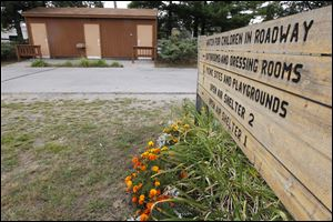 The bathrooms at Olander Park in Sylvania is where a rape is reported to have occurred Monday.