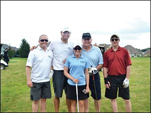 Founder, Nick Hall, second from left, and his team Left to Right- J. Holbrook, Nick Hall, Petra Cole,  John Hall, Keith Burwell