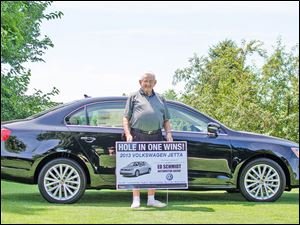Don Decker won a VW Jetta from Ed Schmidt in Perrysburg.