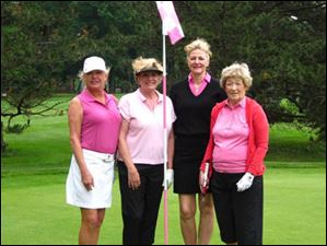 Susan Kelly, Jo-Ellen Apgar and Nancy Metzger and guest play in the Ladies Guest Day.