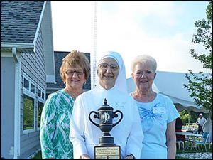 Roni Zak, Mother Cecilia and Elaine Raglow.