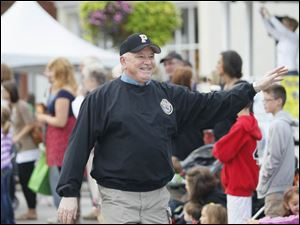 Perrysburg mayor Nelson Evans marching in the parade.