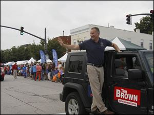 State representative Tim Brown in the parade.