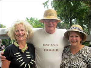 Safari planners Claire Blythe and Sue Cardone with guide, Roger Rummel.