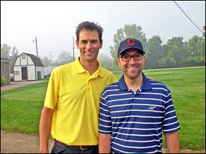 The event organizers: Dan Trombley (Les Stevens' stepson) and Matt Sattler (Les Stevens' son-in-law).