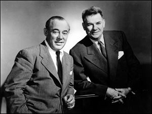 Composer Richard Rodgers, right, and lyricist Oscar Hammerstein II are shown in a 1956 photo.