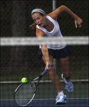 Notre Dame junior Teagan McNamara won the No. 1 singles championship at the Three Rivers Athletic Conference tournament. McNamara (20-3) reached the state quarterfinals in doubles last season with Alicia Nahhas.