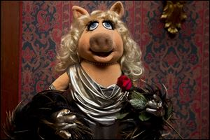 A Miss Piggy muppet, that was used on