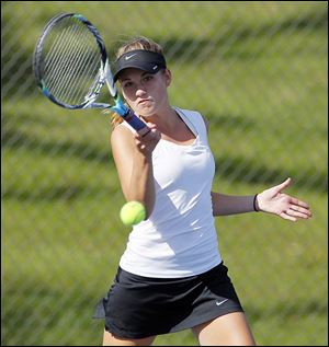 Northview senior Megan Miller beat Perrysburg's Erica Fastnacht 6-0, 6-0 in 57 minutes to win her fourth No. 1 singles NLL crown.