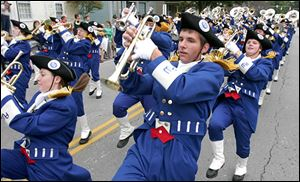 Member of the Anthony Wayne High School Marching Generals entertain during a past parade.
