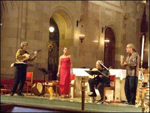 The Alba Consort from New York City, opening the Cathedral Concerts series.