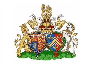 The Duke and Duchess of Cambridge's joint coat of arms.